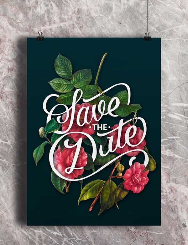Yotam&Rona handlettering hand lettering type typography logo graphic design illustration flowers poster