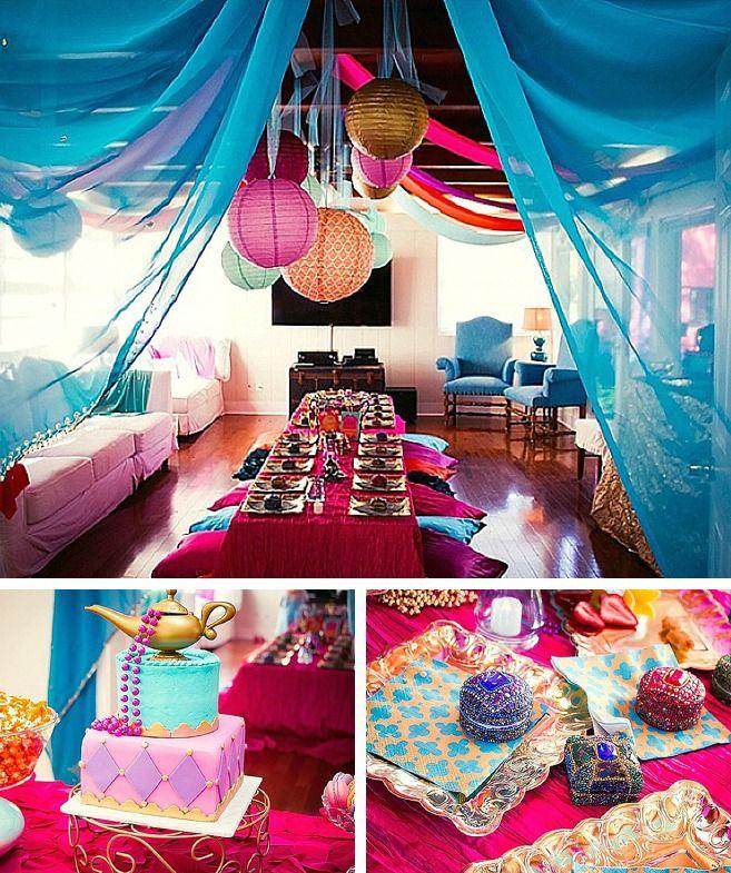Gorgeous Arabian Themed Princess Jasmine Birthday Party.