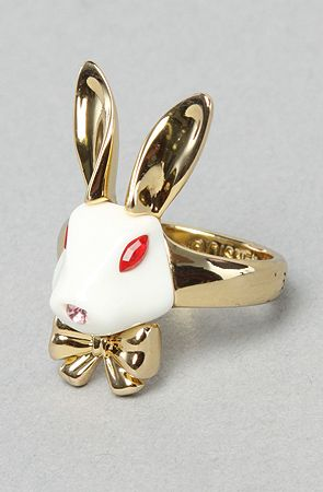 The Alice in Wonderland Rabbit Ring by Disney Couture Jewelry