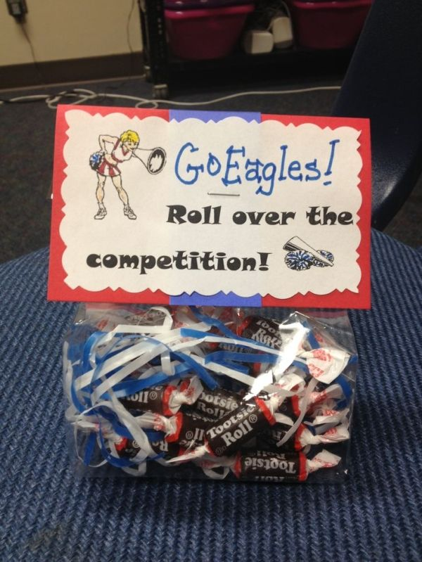 cheerleading competition , Good Luck treats bags! by deann