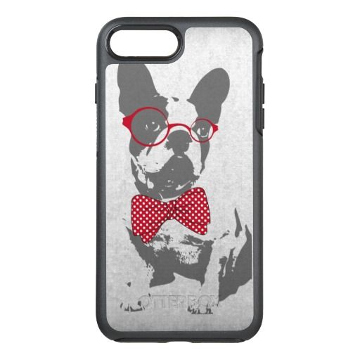 Cute funny trendy vintage animal French bulldog OtterBox Symmetry iPhone 7 Plus Case by InovArtS on Zazzle  @zazzle #phone #cases #iphone #samsung #galaxy #apple #fun #cool #hip #shop #buy #sale #funny #illustration #drawing #cute #black #pet #animal #dog #bulldog #french #cute #fun #red #accessory #accessories #buy #sale #fun #sweet