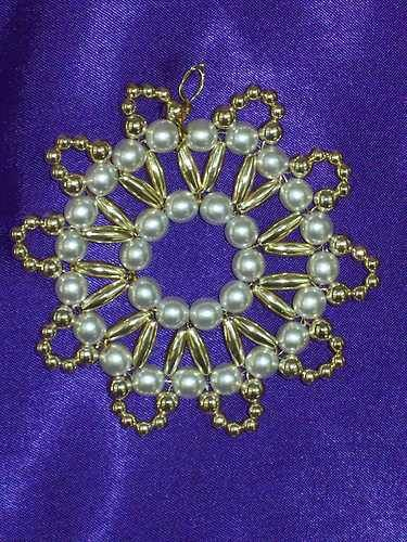 Scalloped Christmas Ornament Bead Craft Kit...Heirloom quality beads | eBay