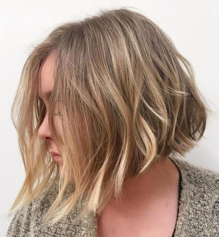 Dark Blonde Balayage Bob