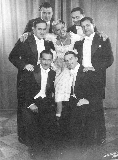 Gitta Alpar mit den Comedian Harmonist, 1931. fotograf unbekannt.