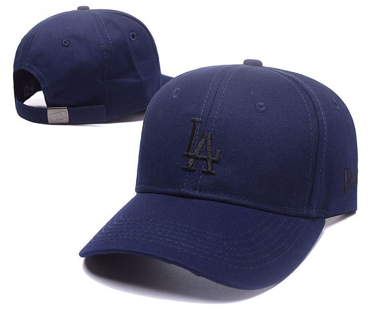 Men's / Women's Los Angeles Dodgers New Era Basic Team Logo Embroidery Adjustable Baseball Hat - Navy / Black