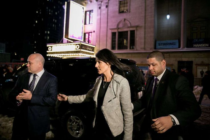 A Who's Who List of Agencies Guarding the Powerful  -  April 12, 2017:          The Diplomatic Security Service of the State Department protects Nikki R. Haley, the United States ambassador to the United Nations. The service also provides protection for visiting foreign dignitaries.