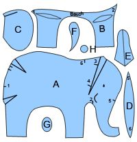 templates for lots of animals and clothing German