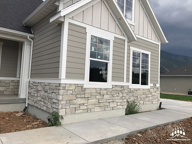 This Is A Beautiful Custom Home Featuring Our Gsharrisco Lueders Color Flint Hills House Paint Exterior Exterior Paint Colors For House Farmhouse Exterior