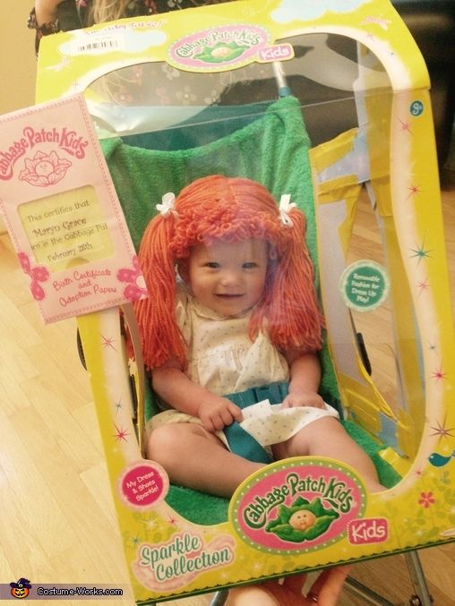 Real Life Cabbage Patch Doll Costume - Halloween Costume Contest via @costume_works