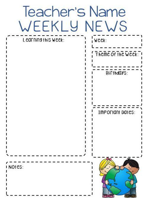 The 25+ best Classroom newsletter free ideas on Pinterest Parent - preschool newsletter template