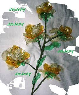 LE CREAZIONI DI DONY: fiore riciclato dalla bottiglia dell'aranciata.......