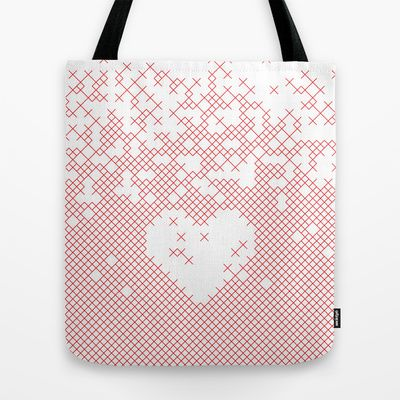 Valentine's gift. x love Tote Bag by Spyros Athanassopoulos - $22.00  #totebags #bag #fabric