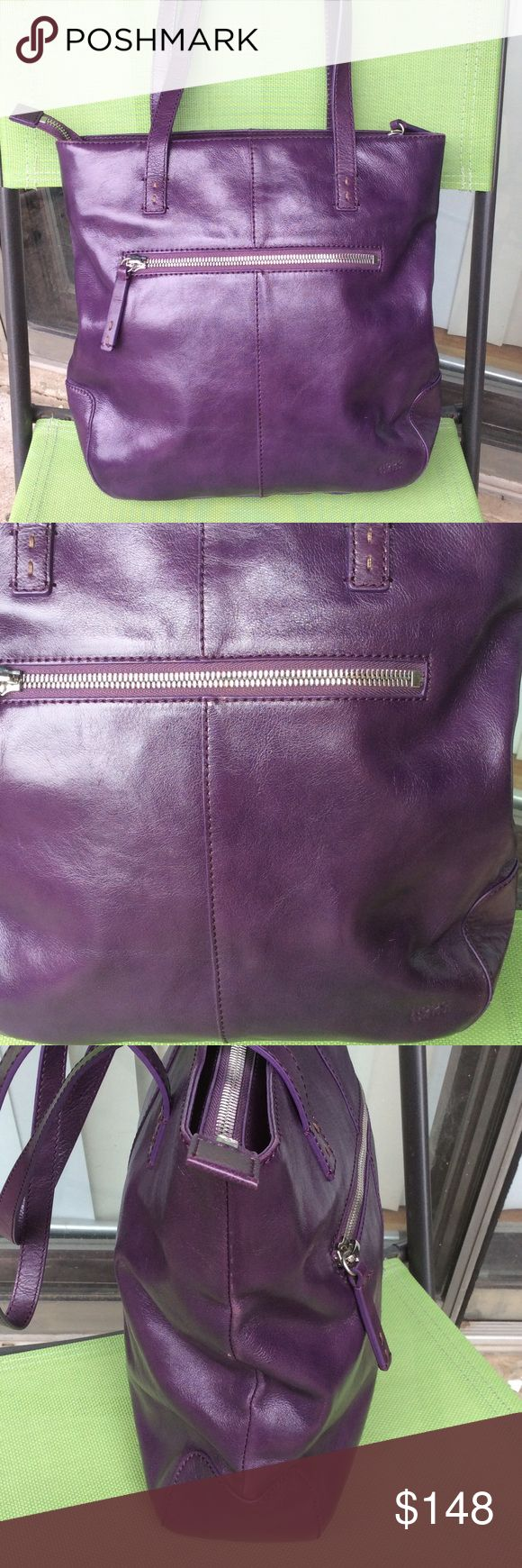Eggplant kitchen accessories - Hobo International Eggplant Color Leather Bag