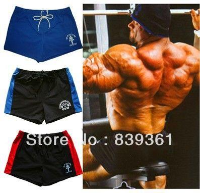 Спортивные шорты с золотой и электростанция, Бодибилдинг тренировки спортивный, Высокое качество 100% хлопок спортивные шорты нескольких цветов