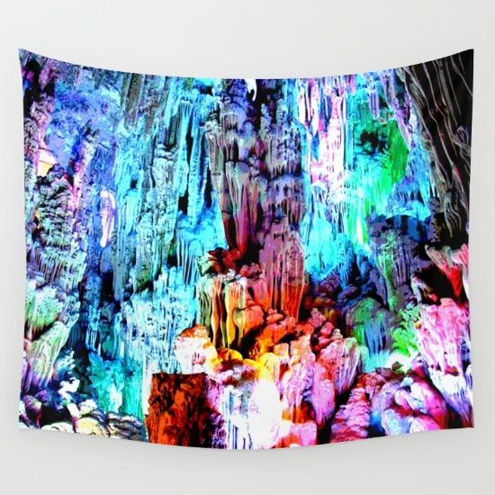 FREE SHIPPING #crystals #newyear #LoveHim #SantaClause #OSHO #SilverBells #yoga #HAPPYNEWYEAR #meditation #starlight https://society6.com/product/cavern-in-greece_tapestry?curator=azima