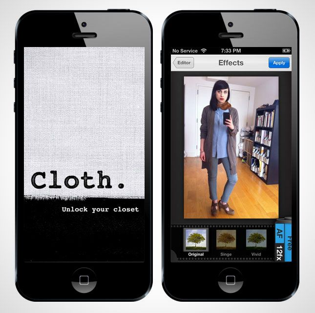 The Cloth app helps you catalog all your favorite outfits and tag them by season.