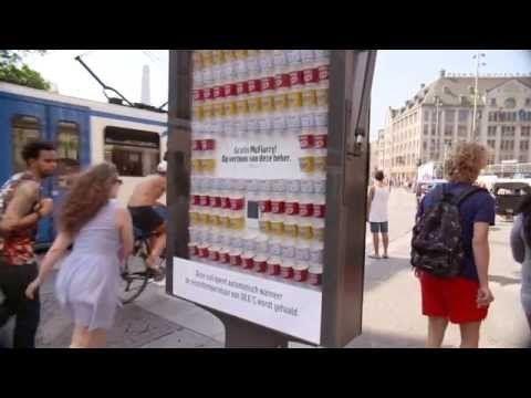 JCDecaux the Netherlands : McDonalds McFlurry heat sensative panel - YouTube