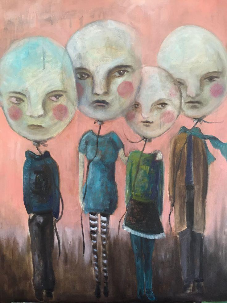 The Airheads, 2016 oil on canvas, Anu Pensola