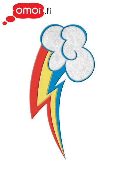 My Little Pony My Little Pony Rainbow Dash cutie mark patch - 5,50EUR : Manga Shop for Europe, A great selection of anime products
