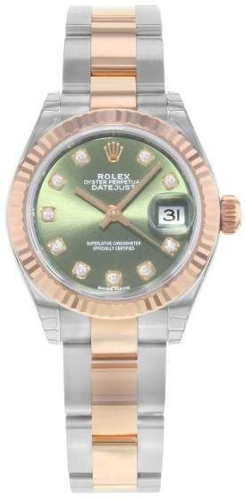989e90a9235 Rolex Datejust 279171 Ogdo 18K Rose Gold & Stainless Steel Automatic 28mm Womens  Watch