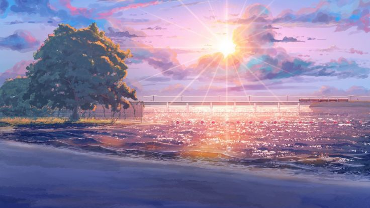 Endless Summer Everlasting Iichan Eroge Beach Original Fantasy Landscape Mood Wallpaper Background