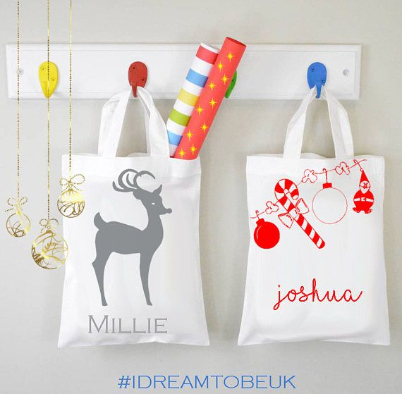 Personalised Christmas Gift bags  christmas present gift