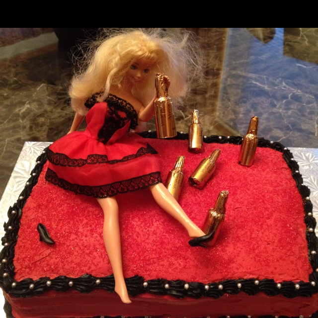 trashed barbie cake i recently made for my friends stagette!