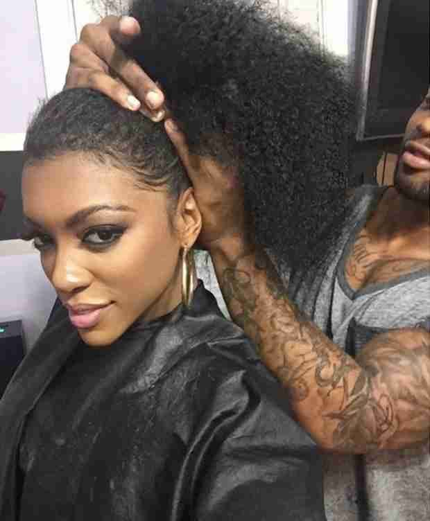 Porsha Williams Shows Off Her Natural Hair On Instagram For 2.5 Seconds  Read the article here - http://www.blackhairinformation.com/general-articles/celebrities/porsha-williams-shows-off-natural-hair-instagram-2-5-seconds/ #porshawilliams