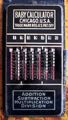 """The """"Baby Calculator"""", Manufactured by the Calculator Machine Company,  Chicago, USA, 1939"""