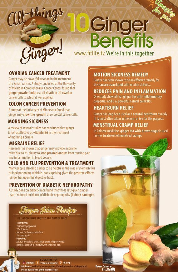 Ginger Health benefits & Recipe ❥➥❥ #ovarian cancer treatment, #colon cancer PREVENTION, morning sickness, #migraine relief, ... pinned with Pinvolve - pinvolve.co