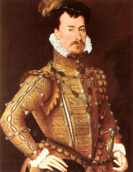 """Воротник """"Стюарт"""" В истории воротника интересна испанская мода Возрождения, с её громоздким и неподвижным придворным костюмом, подчёркивающим чопорность и надменность испанского королевского двора. Мода создаёт жёсткий стоячий воротник с рюшем у подбородка – воротник «Стюарт»."""