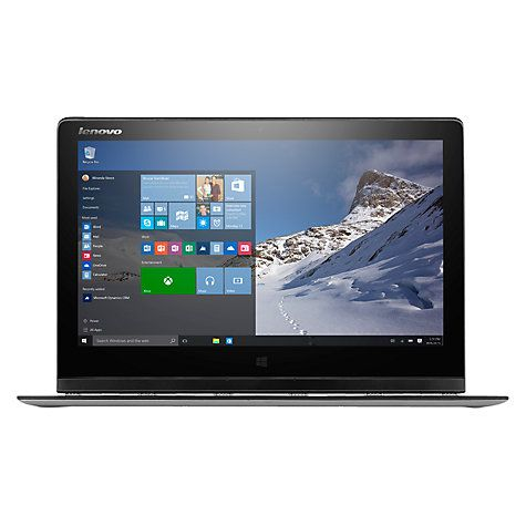 "Buy Lenovo Yoga 3 Pro Convertible Laptop, Intel Core M, 8GB RAM, 256GB SSD, 13.3"" QHD+ Touch Screen, Silver Online at johnlewis.com"