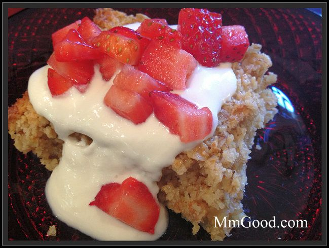 Baked Oatmeal Casserole with Strawberries...great for breakfast and it's super easy!