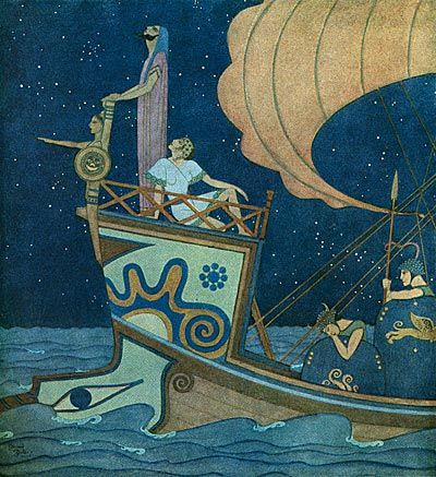 Edmund Dulac's illustrations to Nathaniel Hawthorne's Tanglewood Tales (1918)
