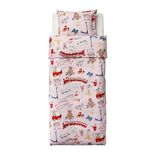 IKEA - LEKRUM, Duvet cover and pillowcase(s), , Cotton is soft and feels nice against your child's skin.