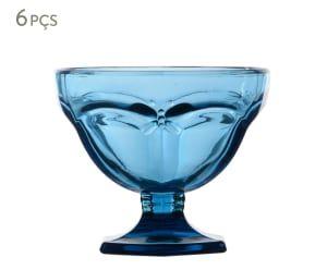 Jogo de Taças para Sobremesa Libélula Azul - 310ml