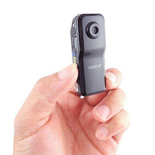 Wiseup� Tragbare Kurz-P2P Wifi IP-Kamera Versteckte Kamera Drahtlos Videorekorder Camcorder f�r Android iOS App Entfernt Ansicht