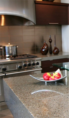 Gorgeous Recycled Glass Countertops Only By Gtsj.biz!