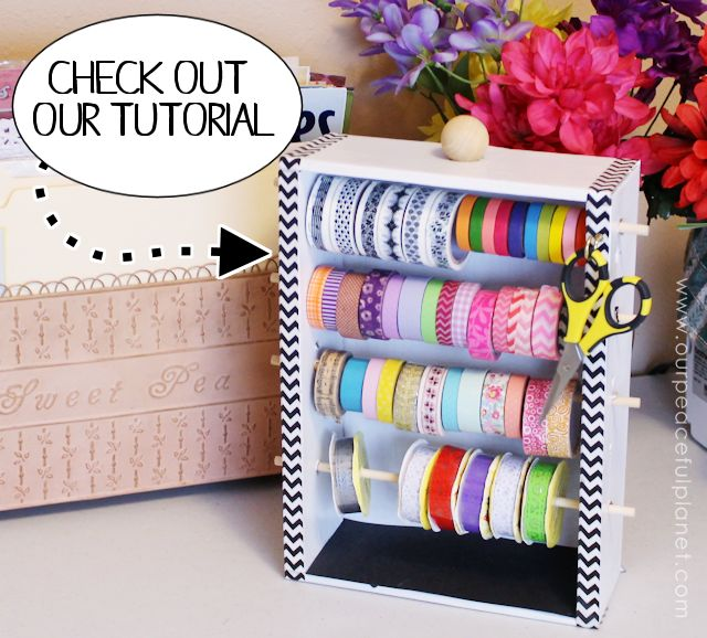 Most Creative Craft Room Organization Ideas Washi Tapes Dispenser