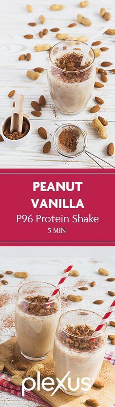A yummy way to start your day. This peanut vanilla shake recipe is the perfect blend of the P96® whey protein powder mixed with a delicious nutty flavor you'll love.