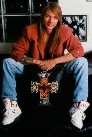 Axl and his custom converse weapons.
