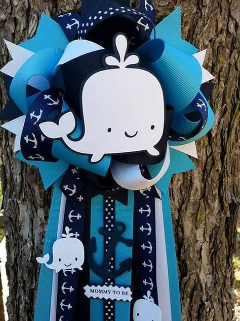 Whale baby shower mum by bonbow on Etsy