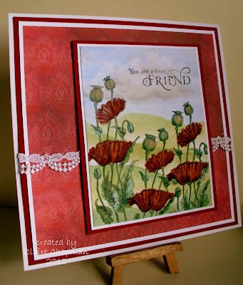 #papercraft #card Claire's Crafty Creations: Chocolate Baroque Poppy Fields