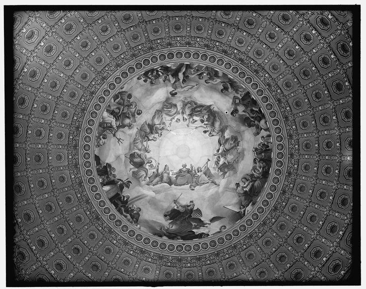 "1904. ""Apotheosis of Washington, fresco in the canopy of the dome, Rotunda of the United States Capitol"". Detroit Publishing Co."