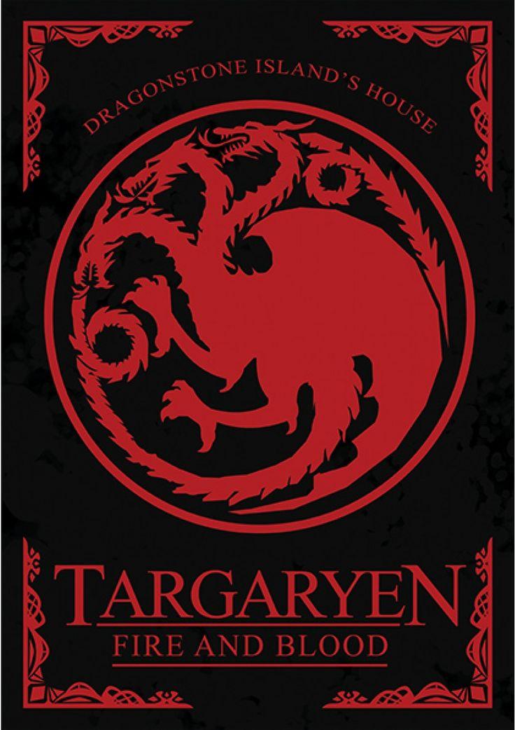 House Targaryen - Game of Thrones - Ficção/Fantasia - Séries | Posters Minimalistas                                                                                                                                                      Mais