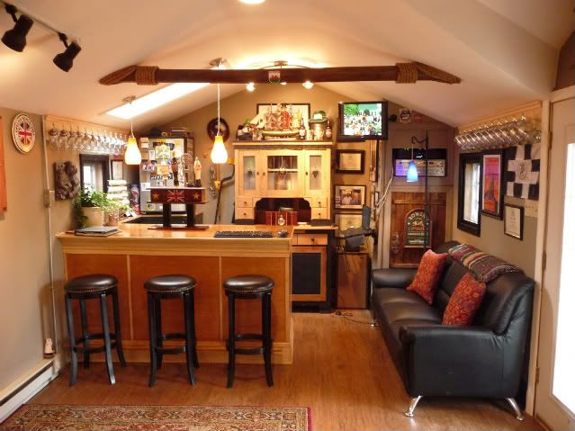 19 Grown Up Man Cave Essentials : Best images about back yard bar shed on pinterest
