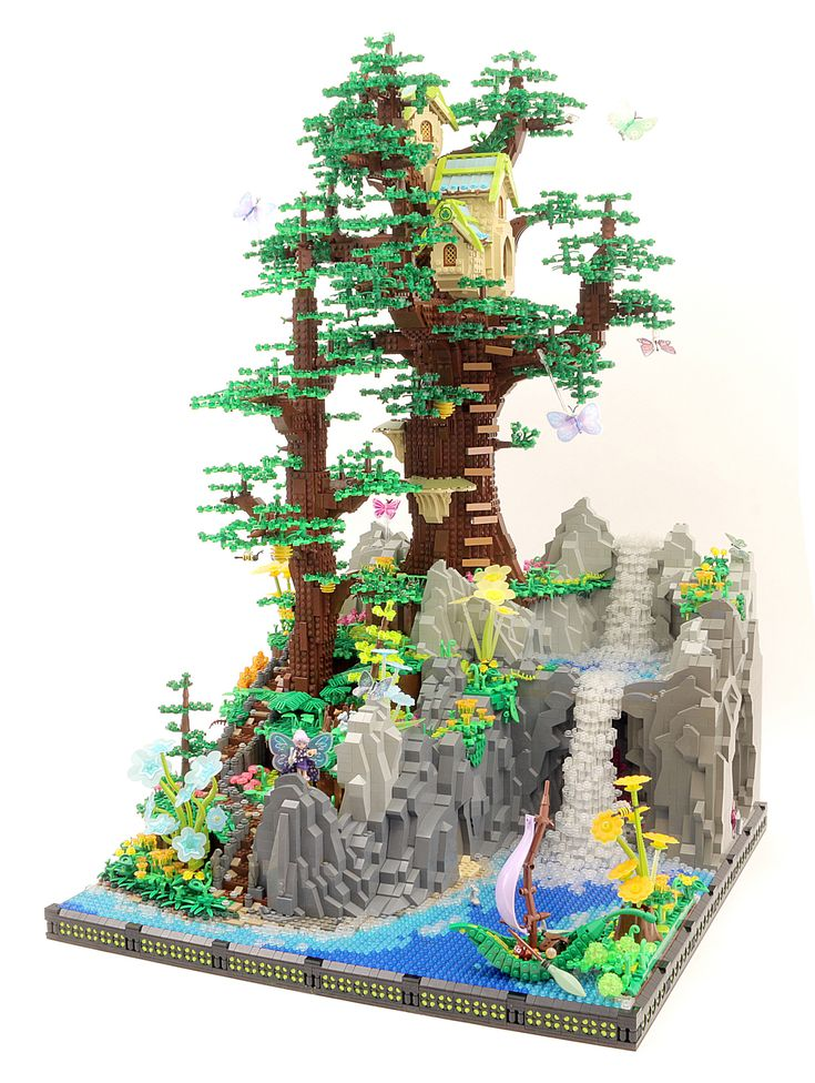 Random Vector  -  Fairy Tree House  -  Welcome to Gladensong, this fairy's humble home. where our story starts and our little fairy begins her journey venturing throughout the magical realms of her home world.   I recently had the honor of installing this display in the Lego House's Masterpiece Gallery. It can be seen there now through 2018 if you happen to visit :)