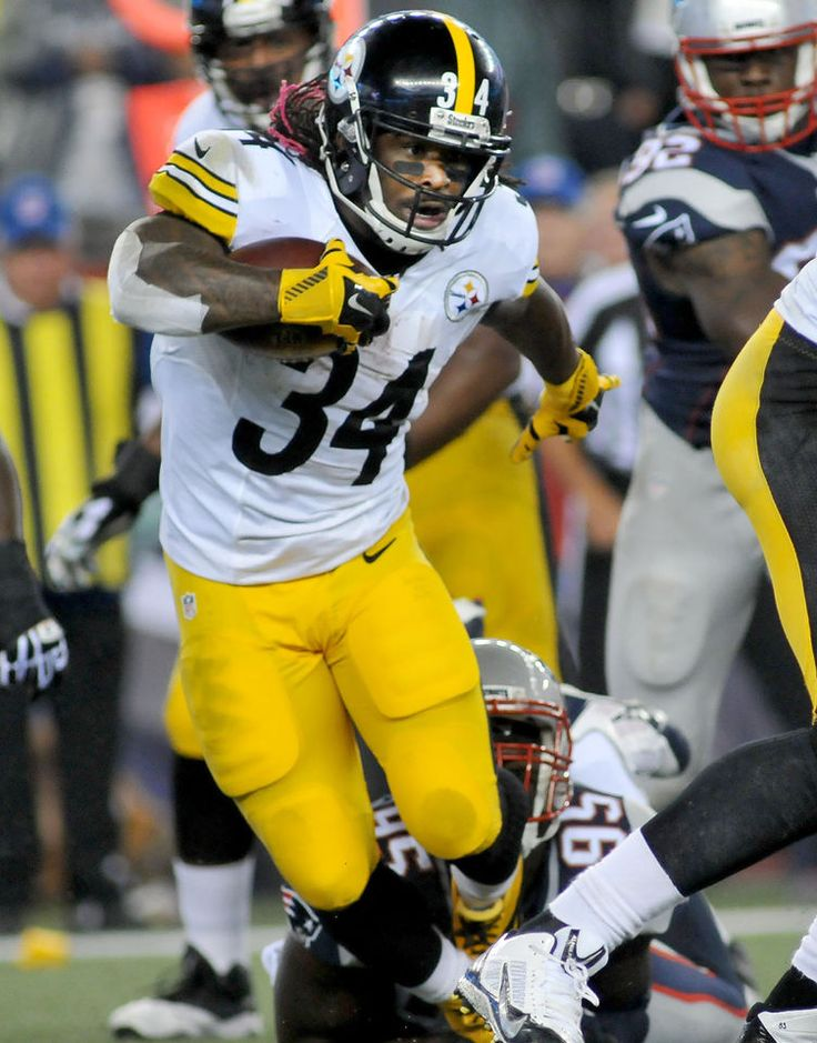 New England Patriots vs Pittsburgh Steelers. Game 1. Sept. 10, 2015 Steelers RB DeAngelo Williams gets tripped up by Pats' Chandler Jones. - MARK STOCKWELL