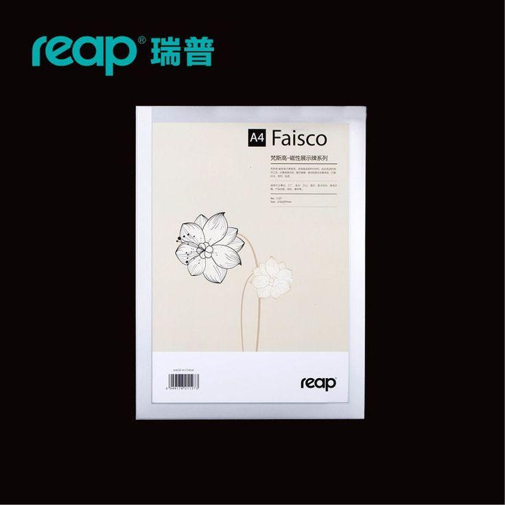 5-pack Récolter 3127 Faisco A4 210*297mm PVC magnétique bureau badge intérieure Support Mural Signe affichage INFO affiche porte signe