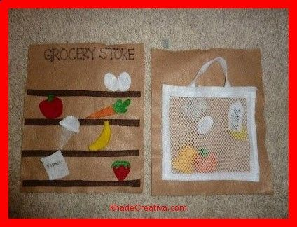 KhadeCreativa.com Groceries--quiet book idea by tanisha source by :http://pinterest.com/pin/385128205606366406/